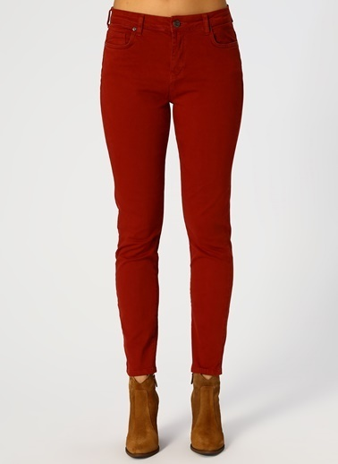 North Of Navy North Of Navy Kadın Skinny Kırmızı Pantolon Kırmızı